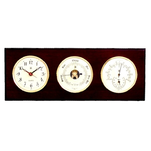 Wall Clock with Barometer, Thermometer and Hygrometer by Bey-Berk