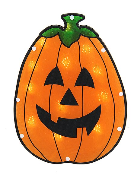 Holographic Pumpkin Halloween Window Silhouette Decoration by Sienna Lighting