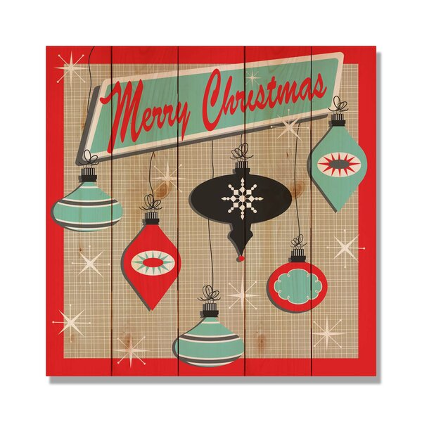 5 Piece Wile E. Wood Retro Christmas Graphic Art Set by Gizaun Art