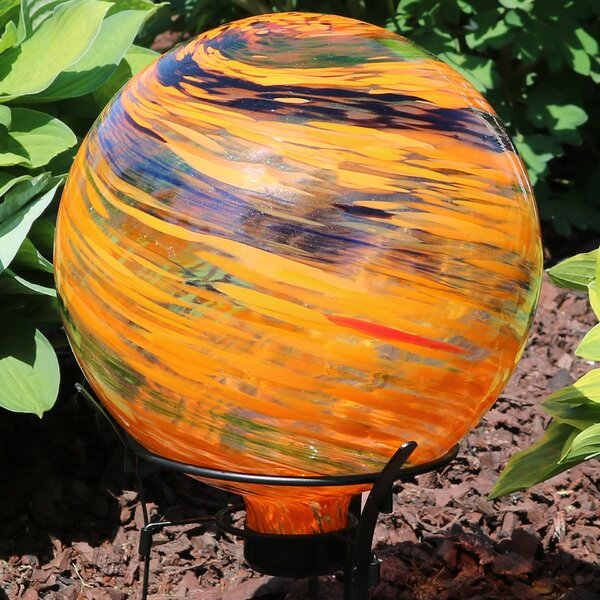 Oconnell Sunset Sky Glass Outdoor Gazing Globe by World Menagerie