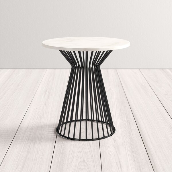modern marble end table