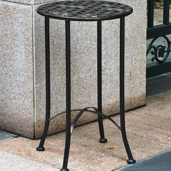 Saundra Metal Side Table by Fleur De Lis Living