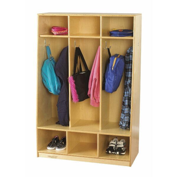 3 Tier 3 Wide Coat Locker by Childcraft