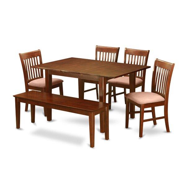 Lorelai 6 Piece Extendable Dining Set by Alcott Hill