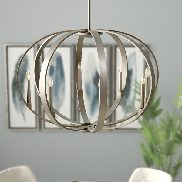 Zachary 8-Light Globe Chandelier by Corrigan Studi