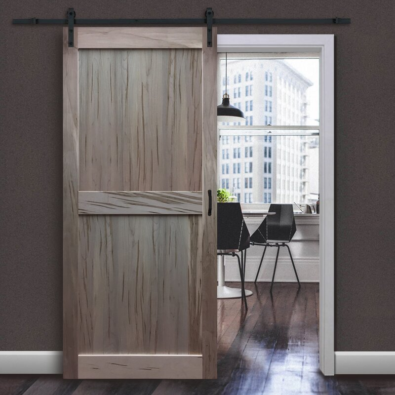 Lovely Solid Flush Wood Interior Barn Door Model - Simple Elegant solid wood barn door Simple