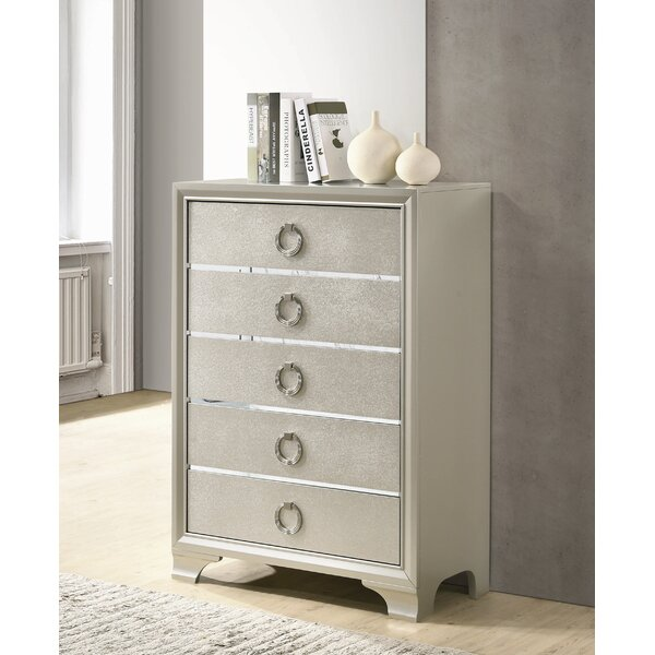 Carpen 5 Drawer Chest by House of Hampton