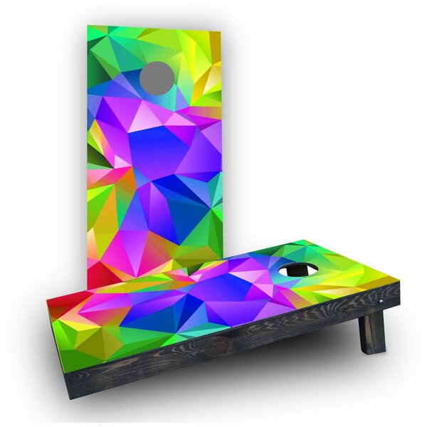 Multi Colored Prism Background Cornhole Boards (Set of 2) by Custom Cornhole Boards