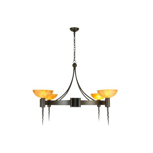 Winkel 4 - Light Shaded Wagon Wheel Chandelier by Fleur De Lis Living Fleur De Lis Living
