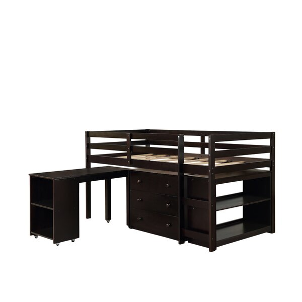 Brookover Twin Low Loft Bed with Drawers by Isabelle & Max