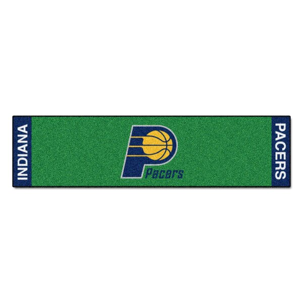 NBA - Indiana Pacers Putting Green 72 in. x 18 in. Non-Slip Indoor Only Door Mat