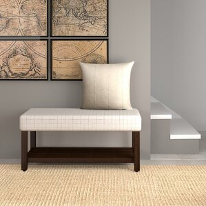 Perry Windowpane Decorative Upholstered Bench by Gracie Oaks