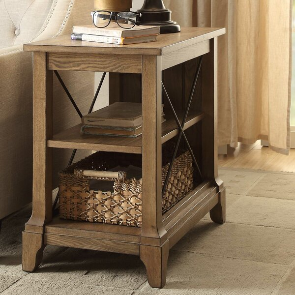 Skaggs End Table by August Grove