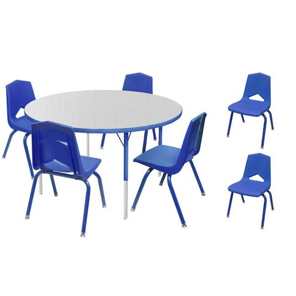 7 Piece Round Activity Table and Chair Set & 16 Chair Set by Marco Group Inc.