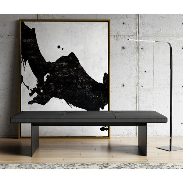 Chambers Genuine Leather Bench by Modloft Modloft