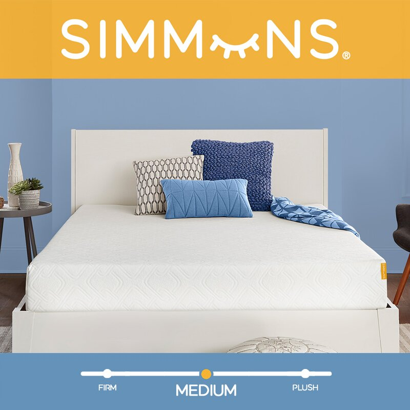 Simmons 8 Medium Gel Memory Foam Mattress Reviews Wayfair