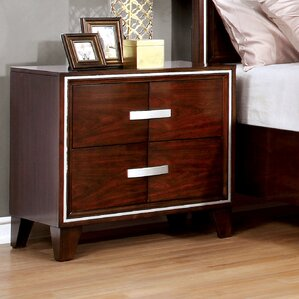 Lumley Contemporary 2 Drawer Nightstand by Brayden Studio