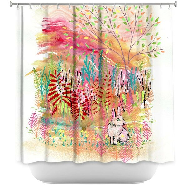 Cotton Tail Bunny Rabbit Shower Curtain by East Urban Home