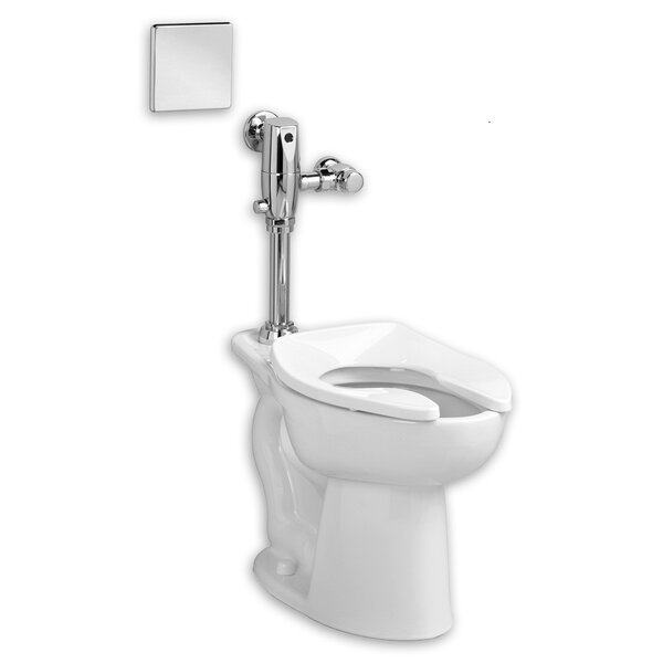 Madera System Selectronic Exposed AC Flush Valve 1.6 GPF Elongated One-Piece Toilet by American Standard
