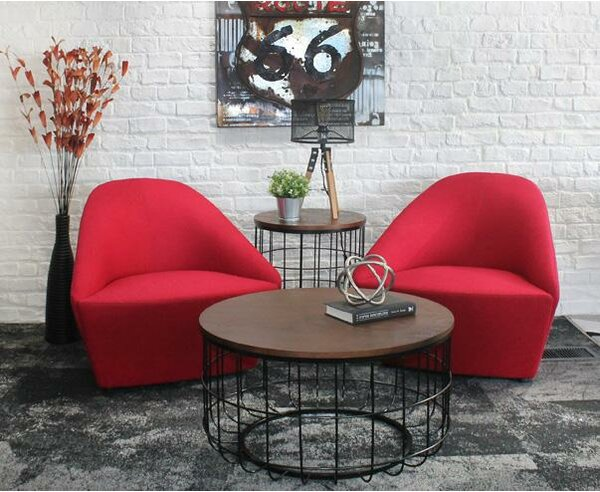 Helsel Industrial Wire Coffee Table by Williston Forge Williston Forge