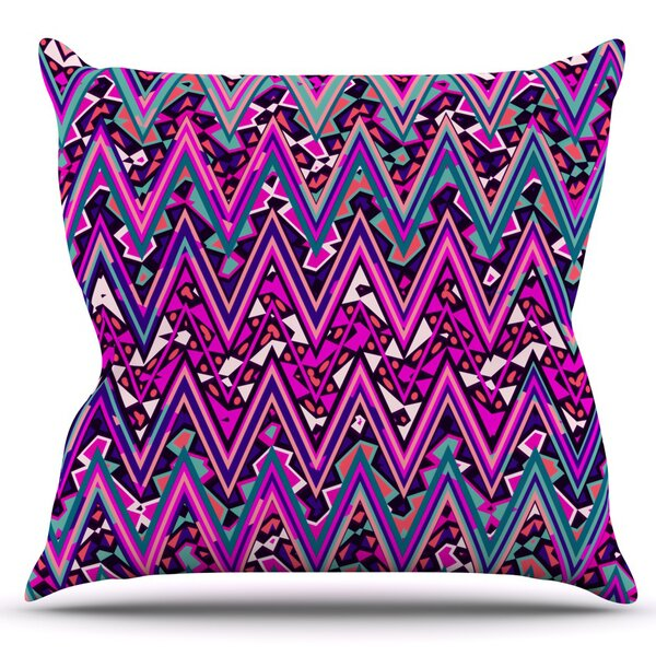 Electric Chevron by Nika Martinez Outdoor Throw Pillow by East Urban Home