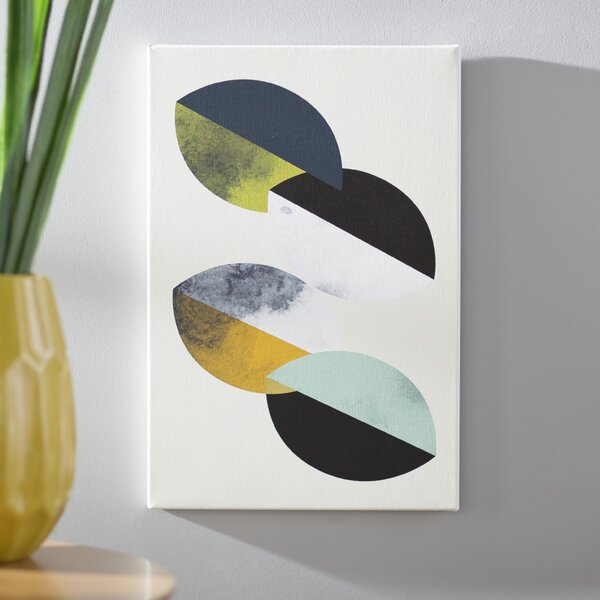 Saucers Graphic Art on Wrapped Canvas by Langley Street