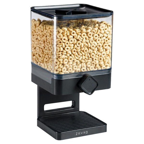 Single Canister Compact Edition 17.5 Oz. Cereal Dispenser by Zevro