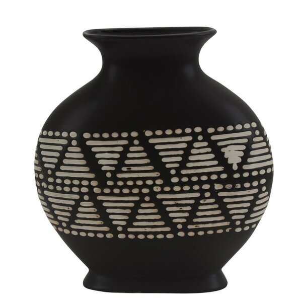 Tobin Contemporary Ceramic Tribal Table Vase by Union Rustic
