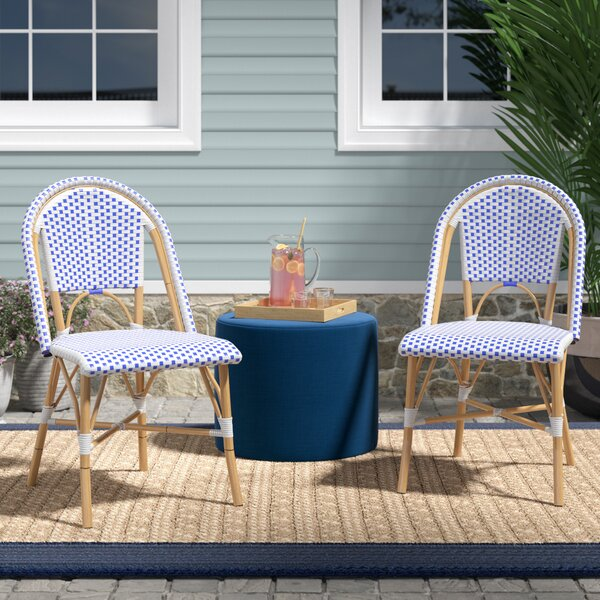 Lucia Stacking Patio Dining Chair (Set of 2) by Beachcrest Home