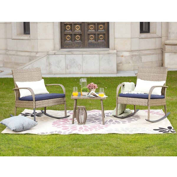 Charterhouse 3 Piece Seating Group with Cushions Mercury Row W000131376