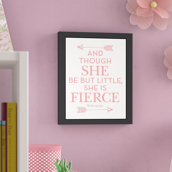 She Is Fierce Framed Art by Viv + Rae