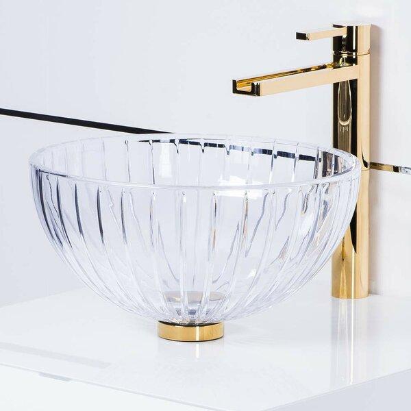 De Medici Glass Circular Vessel Bathroom Sink by Maestro Bath