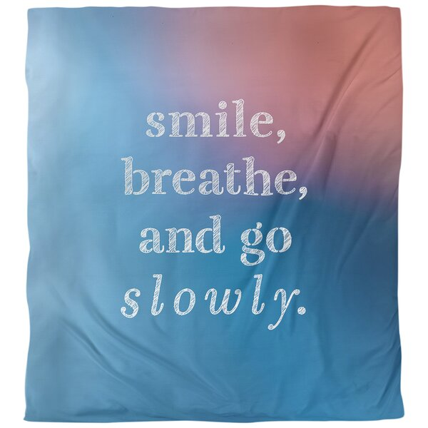 Quotes Go Slowly Single Reversible Duvet Cover