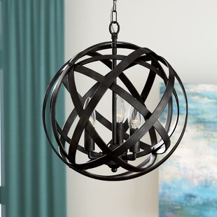 Nilsa 3-Light Globe Chandelier by Ivy Bronx