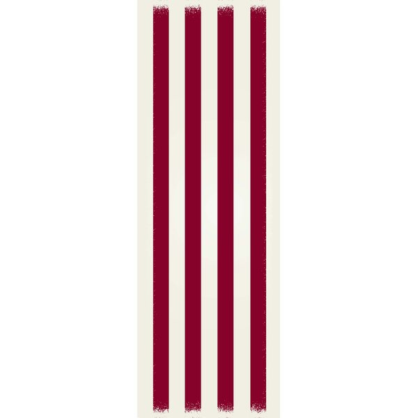 Cropsey Strips Design Red/White Indoor/Outdoor Area Rug by Breakwater Bay