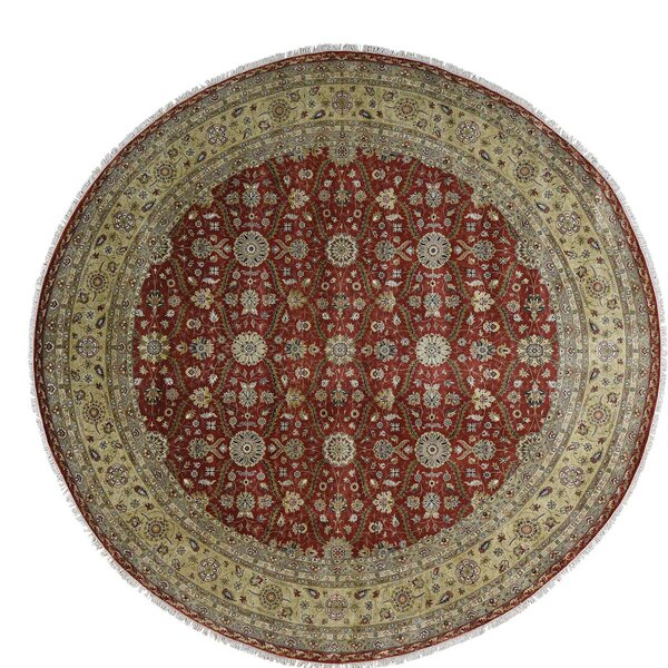 One-of-a-Kind Hereke Hand-Knotted Red Area Rug by Astoria Grand