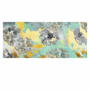 'Mint Gold Garden' Graphic Art Print on Metal by East Urban Home