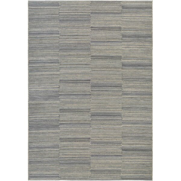 Haubrich Black/Tan Indoor/Outdoor Area Rug by Charlton Home