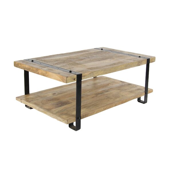 Bianka Industrial Table with Magazine Rack by 17 Stories