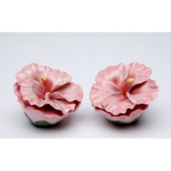 Hibiscus Rosa Salt and Pepper Set by Cosmos Gifts