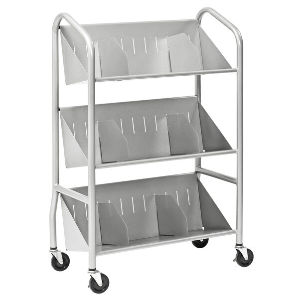 Sloped Shelf Book Cart By Buddy Products.