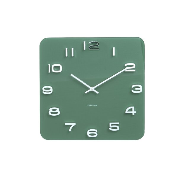 Vintage Glass Wall Clock by Serax