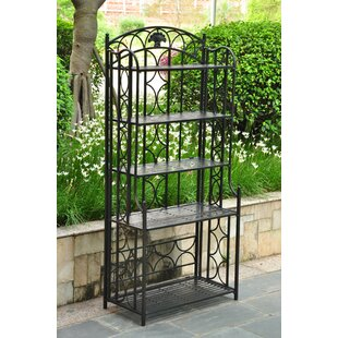 Check Prices Saundra Wrought Iron Baker's Rack Inexpensive