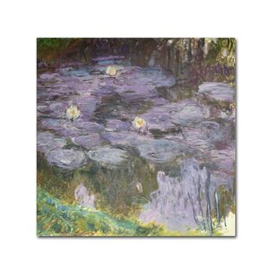 'Waterlilies' by Claude Monet Print on Wrapped Canvas by Trademark Fine Art