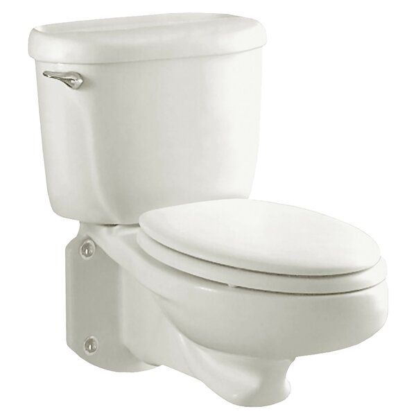 Flowise Glenwall Pressure Assisted 1.6 GPF Elongated Two-Piece Toilet by American Standard