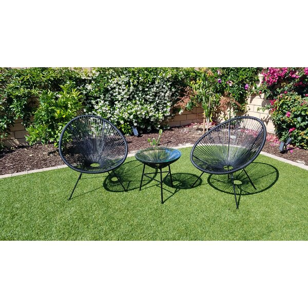 Fougere 3 Piece Rattan Chairs by Bungalow Rose