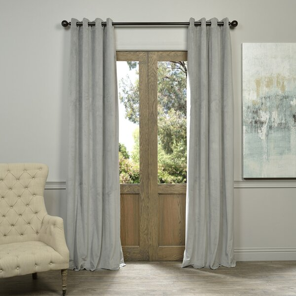 Sharpe Solid Max Blackout Grommet Single Curtain Panel by Three Posts