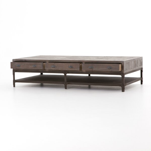 Hendrick Washed Gray Coffee Table by 17 Stories