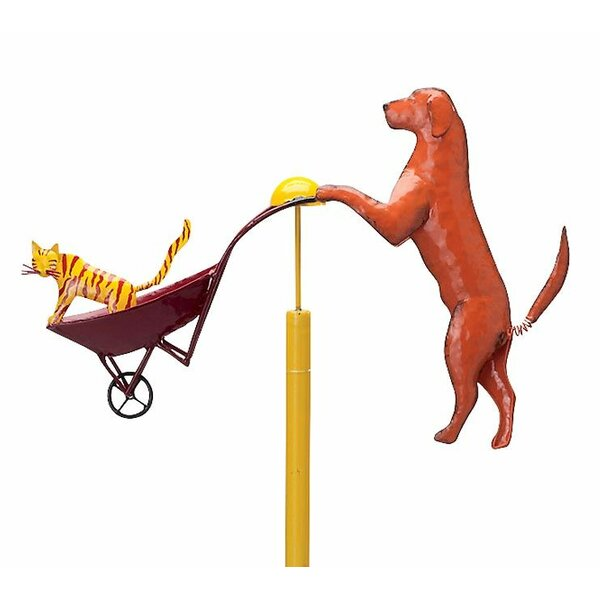 Cat and Dog Balancer Garden Stake by Wind & Weather