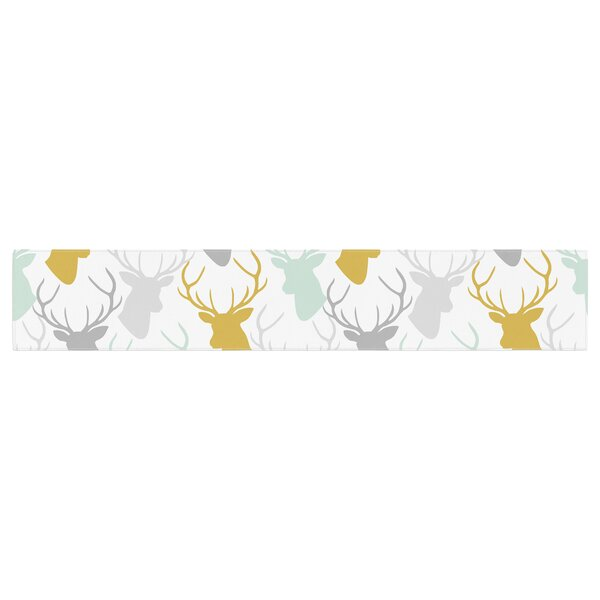 Pellerina Design Scatte Deer Table Runner by East Urban Home